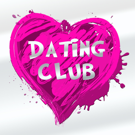 Dating Club Heart Design Showing Sweethearts Online 3d Illustration