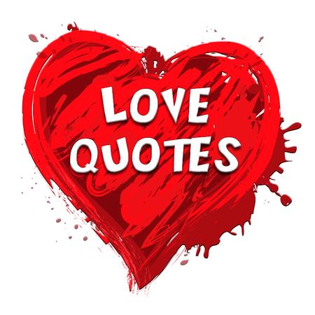 Love Quotes Heart Design Showing Loving Inspiration 3d Illustration