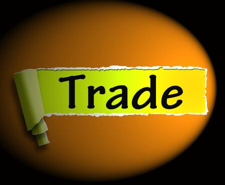 Trade Word Showing Online Buying Selling And Shops 3d Rendering