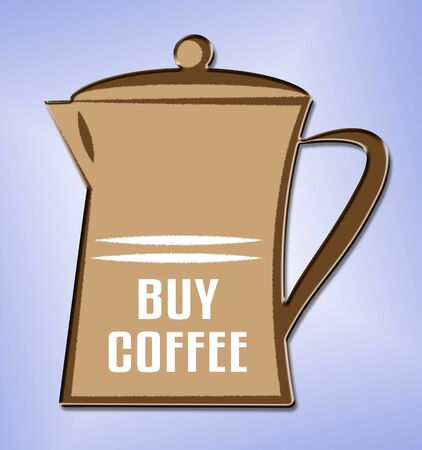 decaf: Buy Coffee jug Means Cafeteria Cafe And Caffeine