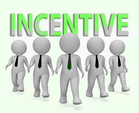 bounty: Incentive Businessmen Characters Representing Induce Rewards 3d Rendering Foto de archivo