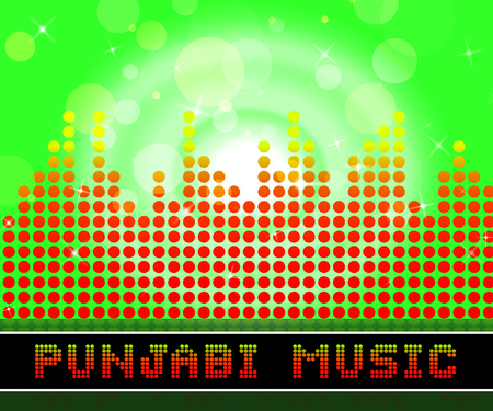 Punjabi Music Graphic Equalizer Means Songs From The Punjab Stock fotó