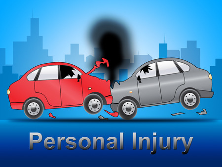 Auto Personal Injury Crash Shows Accident 3d Illustration Stock Photo