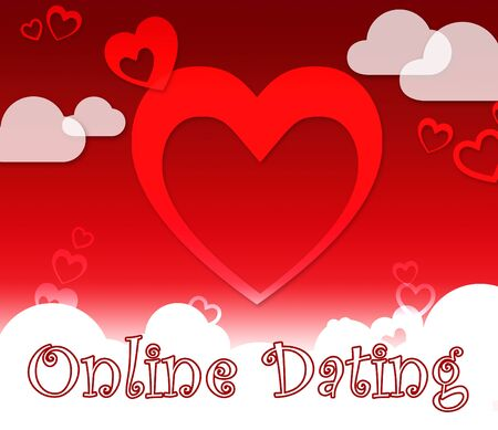 Online Dating With Clouds Showing Web Site And Dates