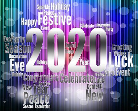 Two Thousand Twenty Indicating 2020 3d Illustration
