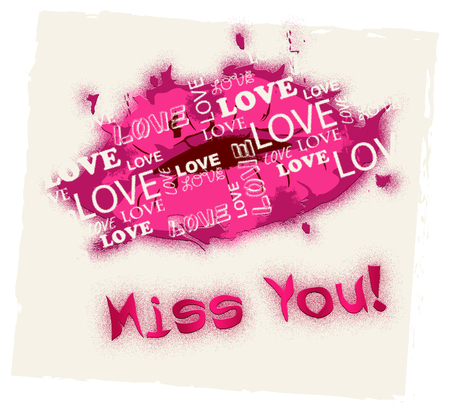longing: Miss You Lips Meaning Absense Love And Longing Stock Photo