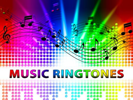 ringtones: Music Ringtones Notes Design Means Telephone Melody Ring Tone