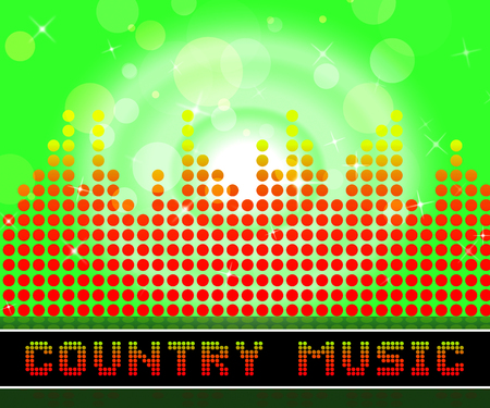 Country Music Graphic Equalizer Represents Sound Tracks And Folk Reklamní fotografie