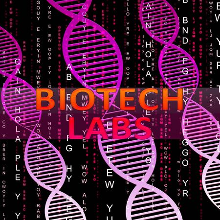labratory: Biotech Labs Helix Means Dna Labratories 3d Illustration Stock Photo