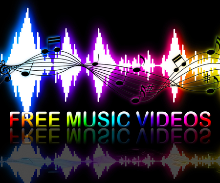 dvd player: Free Music Vdeos Soundwaves Shows Freebie Multimedia Songs Stock Photo