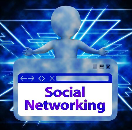 Social Networking Online Sign Indicating Forum Posts 3d Rendering