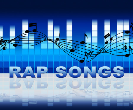rapping: Rap Songs Music Notes Means Spitting Bars And Acoustic Songs