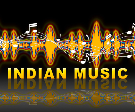 soundtrack: Indian Music Soundwave Representing Sound Track And Acoustic