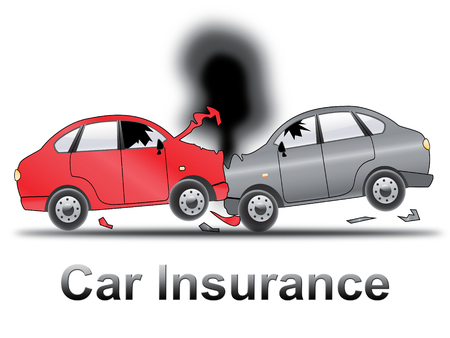 insured: Car Insurance Crash Shows Auto Policy 3d Illustration