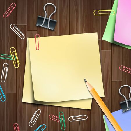 memo pad: Blank Space Memo Pad Shows Copyspace 3d Illustration Stock Photo