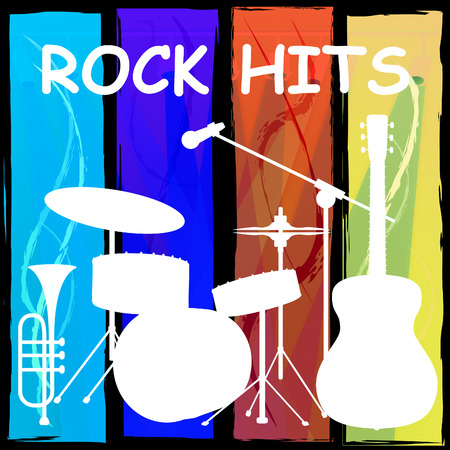 soundtrack: Rock Hits Drum Kit Representing Sound Track And Pop