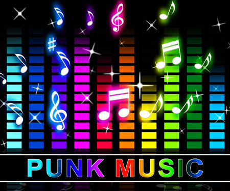 Punk Music Equalizer Notes Shows Rock Music And Soundtrack