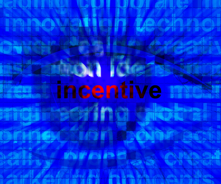 enticing: Incentive Word Means Bonus Enticement Or Coercing 3d Illustration Stock Photo