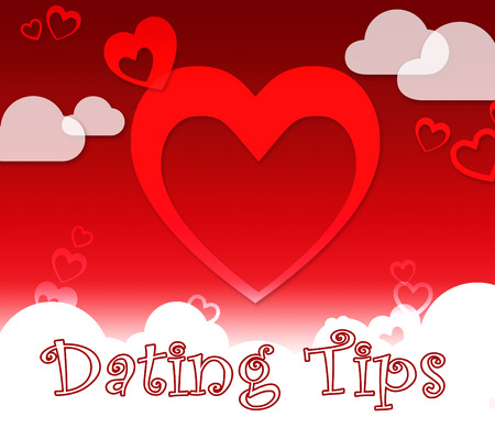 Dating Tips Hearts Represents Relationship Advice And Lover