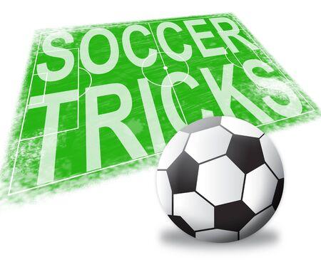 feats: Soccer Tricks Pitch Football Skills 3d Illustration