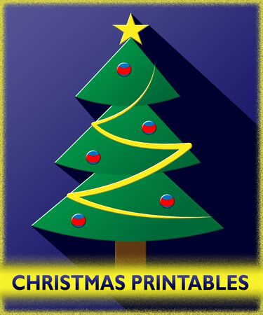 printables: Christmas Printables Tree Shows Xmas Picture 3d Illustration