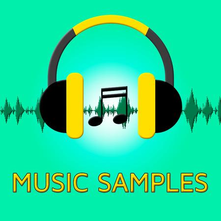 Music Samples Headphones Sound Shows Reusing Tune 3d Illustration