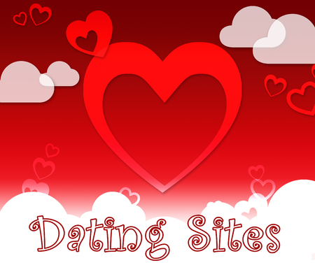 Dating Sites Hearts Indicates Find Love Or Affection Stock Photo