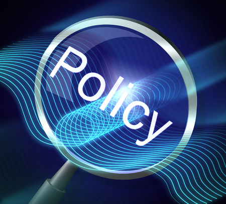 Magnifier Policy Means Guideline Legal And Rules 3d Rendering