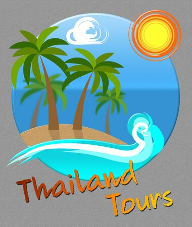 travelled: Thailand Tours Beach And Sea Means Travel Or Journeys In Asia