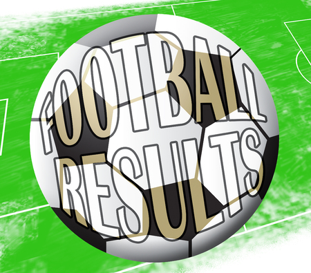 Football Results Ball Showing Soccer Scores 3d Illustration
