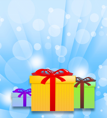 Gift Boxes And Bubbles Represents Christmas Present 3d Illustration