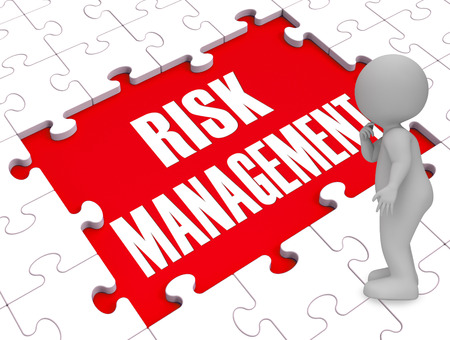 Risk Management Shows Identifying, Evaluating And Treating Risks 3d Rendering