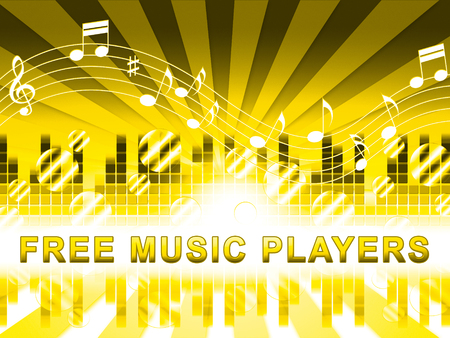 Free Music Players Design Means No Cost And Audio