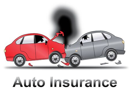 Auto Insurance Crash Shows Car Policy 3d Illustration
