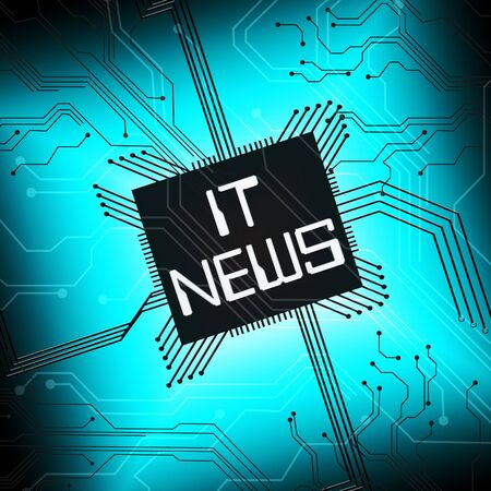 It News Cpu Shows Information Technology 3d Illustration Stock Photo