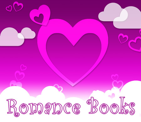 Romance Books Hearts Means In Love And Affections Stock Photo