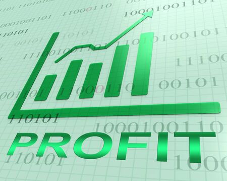 profit graph: Profit Graph Showing Earning And Income 3d Rendering