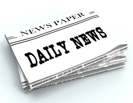daily newspaper: Daily Newspaper Message Represents Regular News 3d Rendering