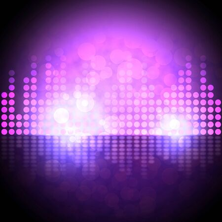 Music Equalizer Background Meaning Electronic Beats Display 3d Illustration
