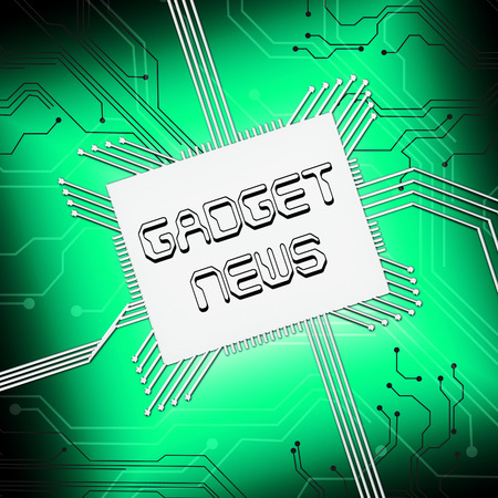 Gadget News Cpu Shows Gizmo Reports 3d Illustration Stock Photo