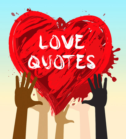 Hands Holding Love Quotes Heart Shows Loving Inspiration 3d Illustration