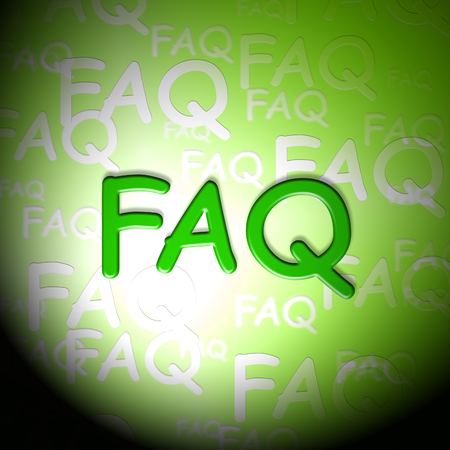 Faq Words Indicates Frequently Asked Questions And Advice