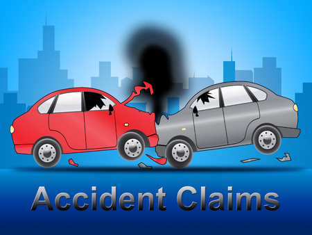 insure: Accident Claims Crash Shows Policy Claim 3d Illustration