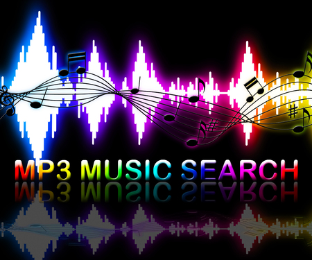 soundtrack: Mp3 Music Search Soundwaves Means Online Track Searching