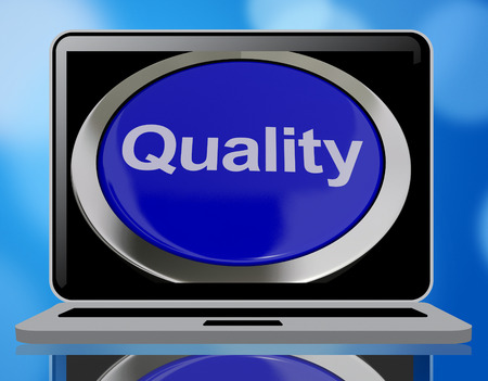 excellent service: Quality Button Representing Excellent Service Or Product 3d Rendering