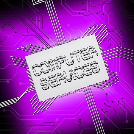 computer services: Computer Services Cpu Shows Pc Repair 3d Illustration