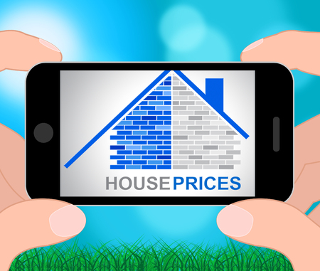House Prices Phone Meaning Apartment Household And Houses 3d Illustration
