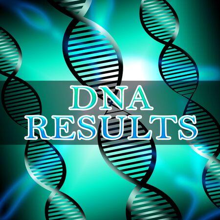 Dna Results Helix Shows Genetic Result 3d Illustration