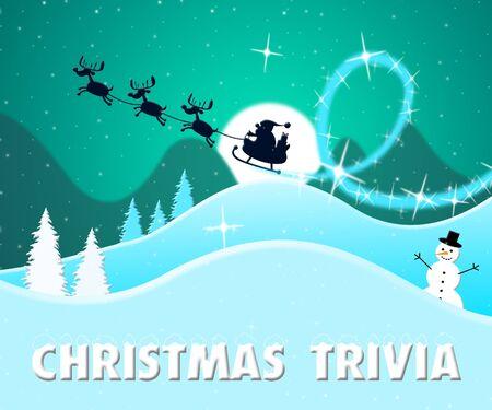 christmas trivia santa scene showing xmas facts 3d illustration stock illustration 71769159 - Christmas Trivia Facts