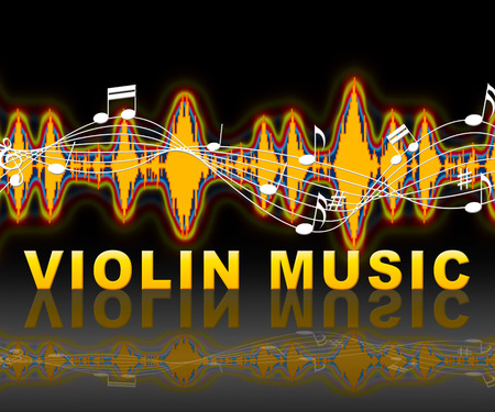 fiddles: Violin Music Soundwaves Indicates Sound Tracks And Acoustic